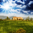 Tuscany. Italian landscape in spring season — Stock Photo