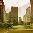 Chicago. Beautiful city skyline and river — Stock Photo #32356541