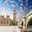 Landscape of Big Ben and Palace of Westminster — Stock Photo