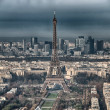 Paris. Aerial view of famous Eiffel Tower. La Tour Eiffel — Stock Photo #32360947