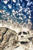 Monte rushmore - george escultura washington — Foto de Stock