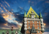 View of old Quebec and the Chateau Frontenac — Stock Photo