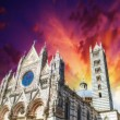 Stock Photo: Siena, Italy. Wonderful view of Duomo, Cathedral