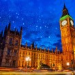 Lights of Big Ben Tower in London — Stock Photo
