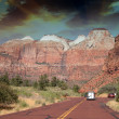 Zion park, usa. beautiful colors — Stock Photo