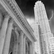 Manhattan, New York City - Black and White view of Tall Skyscrap — Stock Photo #32713839