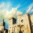 Palais des Papes - Palace of the Popes - in Avignon, France — Stock Photo