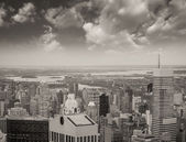 Wonderful aerial view of Manhattan Skyscrapers - New York City — Stock Photo