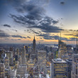 New York City - Manhattan skyline at winter sunset — Stock Photo #32722025