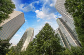 London, Canary Wharf. Beautiful view of Skyscrapers — Stock Photo
