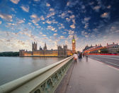 Westminster Bridge in London, UK — Stock Photo