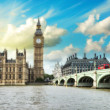 London. Beautiful view of Westminster Bridge — Stock Photo