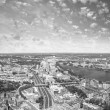 Boston Aerial view with cloudy sky, Massachusetts — Stock Photo