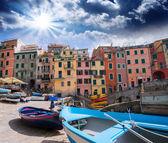 Cinque terre, italia. maravillosa vista clásica — Foto de Stock