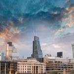 London, UK. Beautiful sunset view of city modern skyline — Stock Photo #33158347