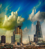 London skyline. Modern buildings on the southern side of river — Stock Photo