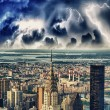 Storm and lightning in New York City — Stock Photo #33691147