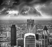 Storm over London skyline — Stock Photo