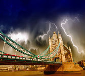 Storm over Tower Bridge in London. — Stock Photo