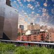 Beautiful view of Manhattan skyline as seen from High Line Park — Stock Photo