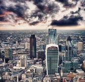 Stunning sunset over City of London. — Stock Photo