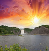 Montmorency Falls, Quebec. — Stock Photo