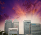 City of London. Modern skyline under a beautiful summer sky — Stock Photo