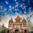 Beautiful architectural detail of Boston, MA — Stock Photo