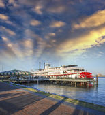 New Orleans. Famous Bateaux on Mississippi River — Stock Photo