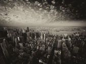 Black and white skyline of New York from the Empire State Buildi — Foto de Stock