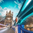 Stock Photo: London. Magnificence of Tower Bridge with its beautiful night co