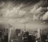 New york city. widok na panoramę manhattanu z midtown bui — Zdjęcie stockowe