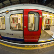 Stock Photo: LONDON - SEP 29: Subway train arrives in station, September