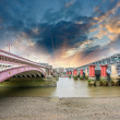 London. Blackfriars Bridge view from River Thames — Stock Photo #34110627
