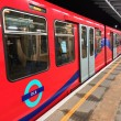 Stock Photo: LONDON - SEP 28: London DLR, Docklands Light Railway, is automat