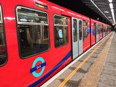 LONDON - SEP 28: London DLR, Docklands Light Railway, is automat — Stock Photo