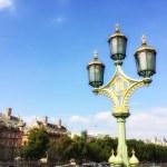 Beautiful lamp post on Westminster Bridge, London — Stock Photo