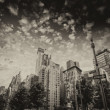 Buildings and trees of Columbus Circle on a summer day - New Yor — Stock Photo #34633543