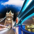 Stock Photo: Magnificence of Tower Bridge in London. Powerful architecture ov