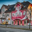 Colorful Homes of Klagenfurt - Austria — Stock Photo