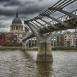 Millennium Bridge in London — Stock Photo