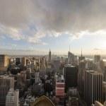 Panoramic fisheye view of Manhattan Skyline, New York City Aeria — Stock Photo #34636643