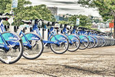 NEW YORK - JUNE 12: Citi Bike docking station on June 12, 2013 i — Stock Photo