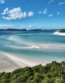 Great Barrier Reef, Australia. Wonderful Whitehaven Beach in the — Stock Photo