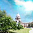 Stock Photo: Austin, Texas. Beautiful view of Capitol with vegetation and sur