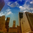 Beautiful skyline and buildings of Manhattan - New York City str — Foto de Stock