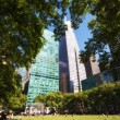 Bryant Park Garden and Skyscrapers - New York City — Stock Photo #35086975