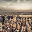 New York City. Wonderful Manhattan  skyscrapers aerial view from — Stock Photo