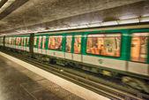 PARIS - DEC 1: Metro station on September 30, 2012 in Paris. Par — Stock Photo