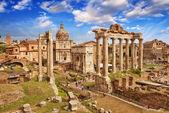 Prachtig uitzicht op het forum romanum in rome — Stockfoto